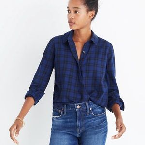 Madewell Wrap Front Shirt in Arion Plaid